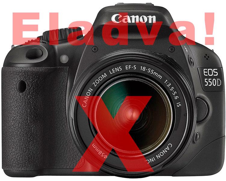 Canon 550D + 18-55 IS II - újszerű, használt Eladó!